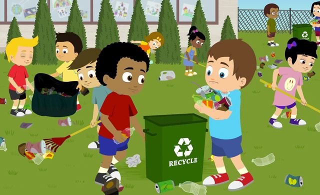 Children Cleaning The Environment Clipart
